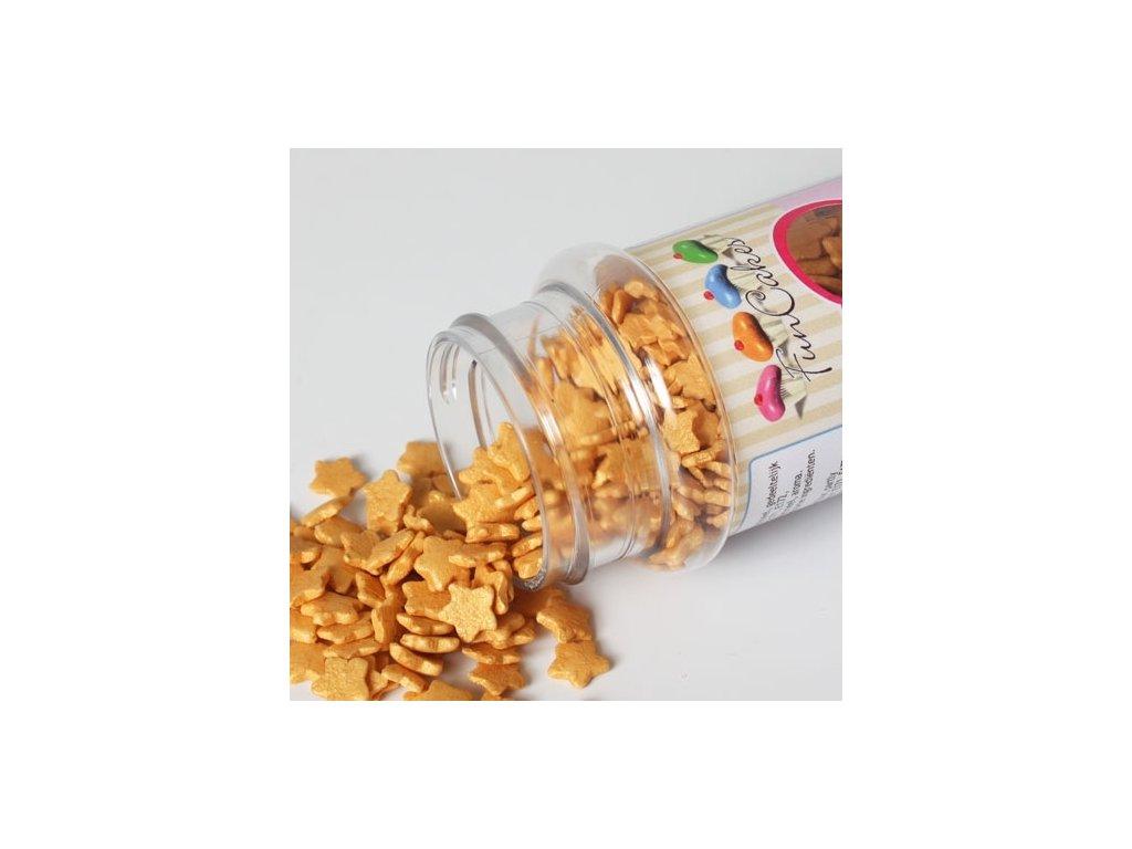 Sypání Fun Cakes - zlaté hvězdičky