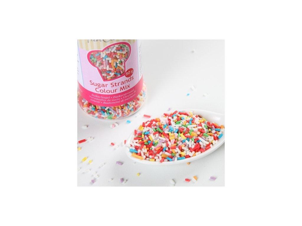 Sypání Fun Cakes - barevné tyčinky
