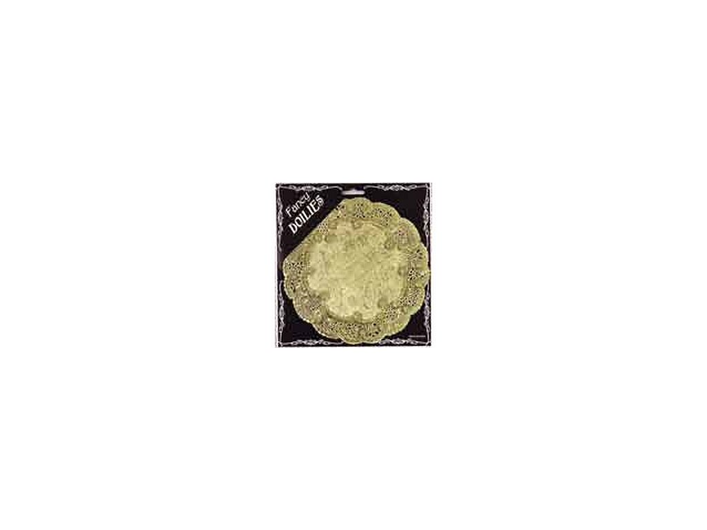 Krajka kulatá 33 cm - zlatá