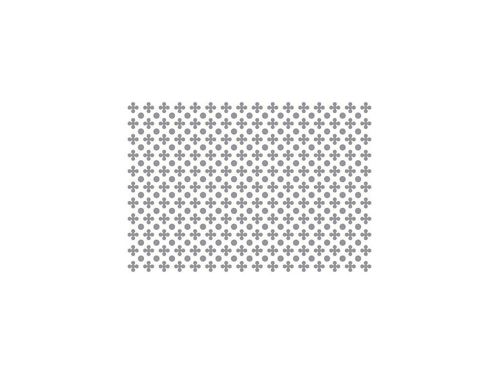 Prosypávací šablona - puntíky a kvítky
