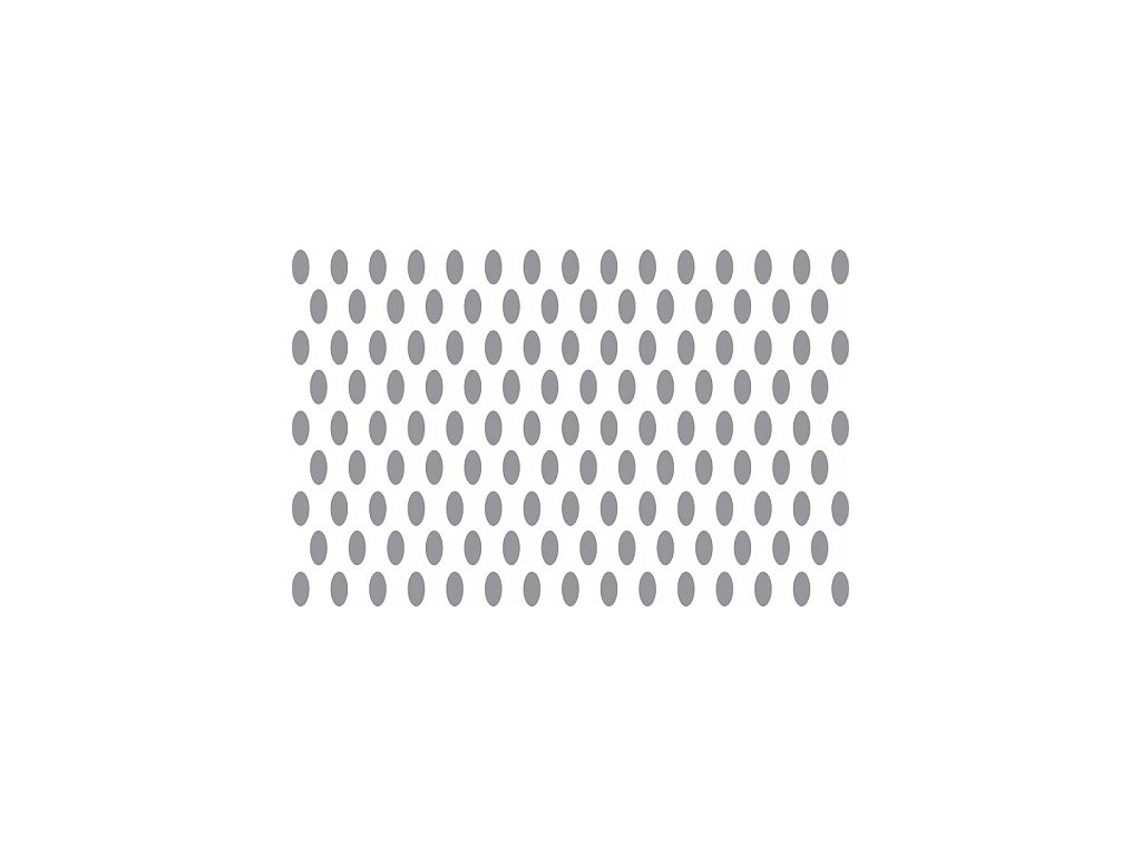 Prosypávací šablona - oválky