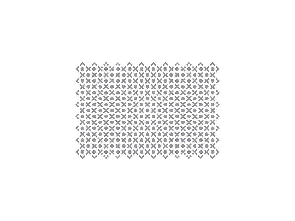Prosypávací šablona - puntíky a křížky