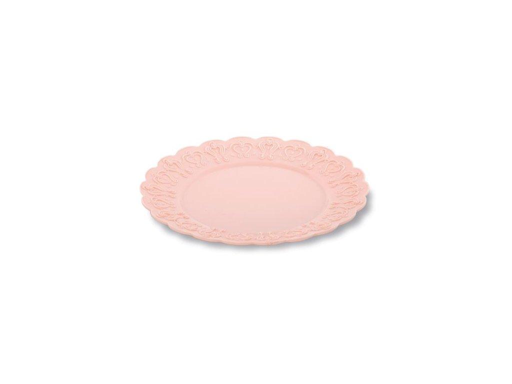 Sada dezertních talířů Pavoni (6 ks) - Růžové