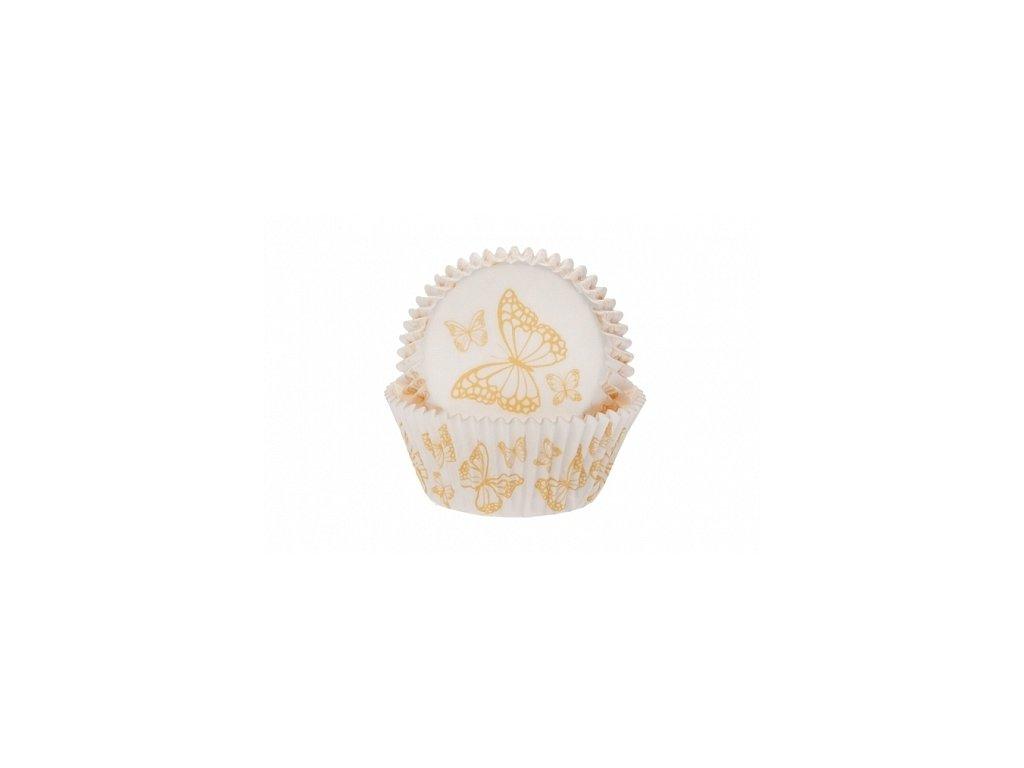 Košíčky Fun Cakes - bílé se žlutým motýlkem