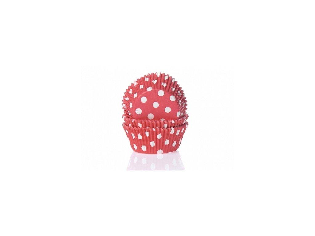 Košíčky Fun Cakes - červené s puntíky
