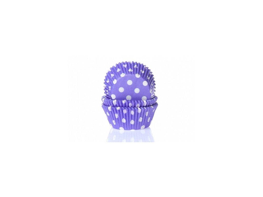 Košíčky Fun Cakes - fialové s puntíky