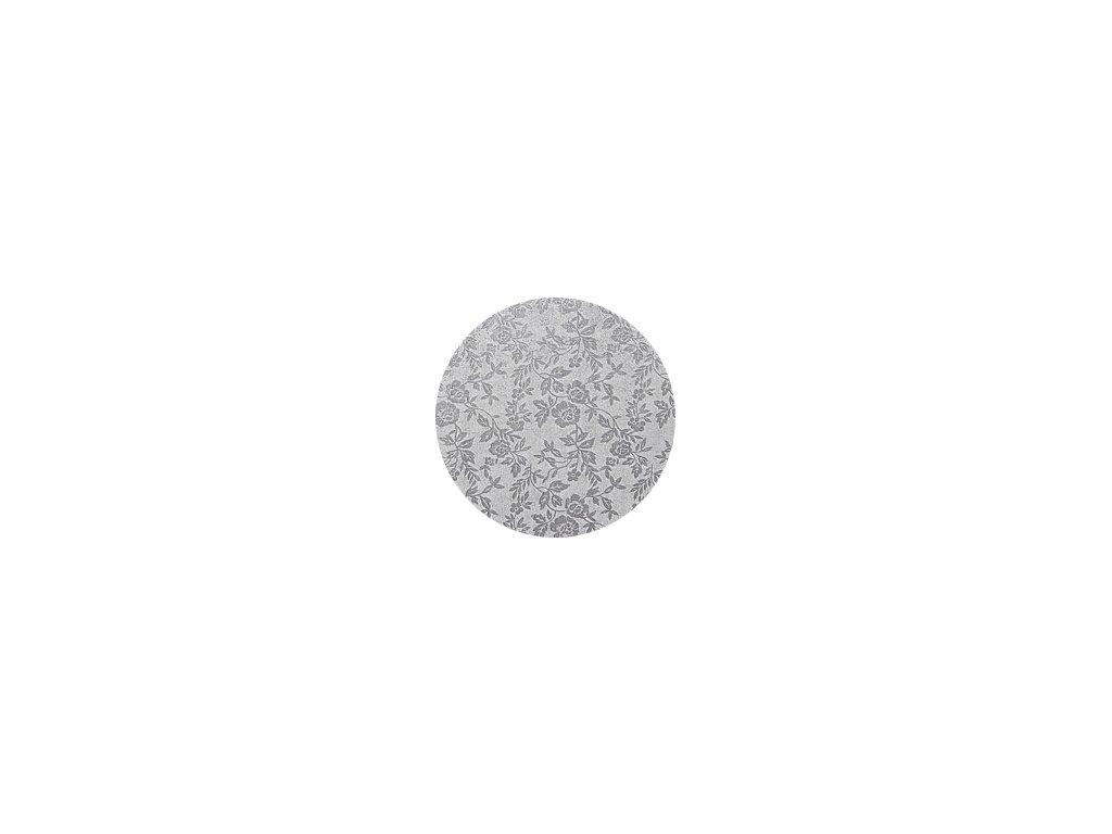 Dortové podložky stříbrné (5 ks) - Kruh 50 cm