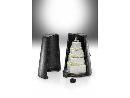 Thermobox na přepravu pětipatrového dortu Thermohauser