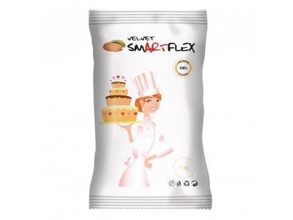 smartflex velvet mandle 1 kg v sacku potahovaci a modelovaci hmota na dorty 1