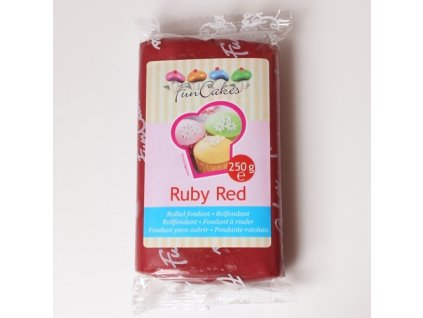 Hmota Fun Cakes 250 g - Ruby Red - expirace 05/01/2021