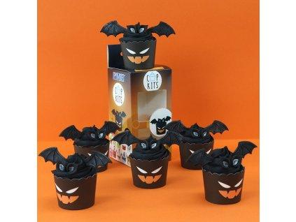 CUP08 Cupkit Halloween Bats Box and Cupcake