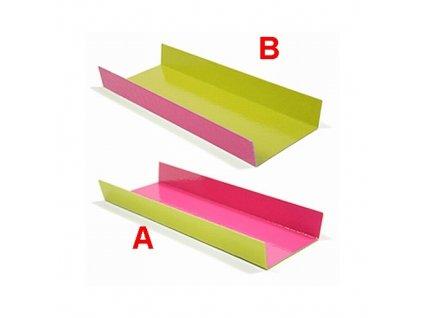 Zeleno-růžový tácek - obdélník - celé balení