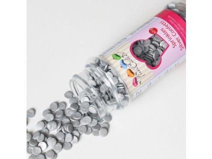 Sypání Fun Cakes - stříbrné confetti -expirace 31/5/2021