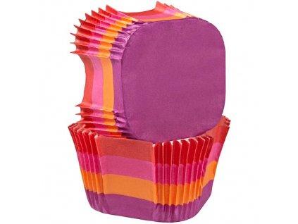 Košíčky Wilton čtvercové - Warm Stripes