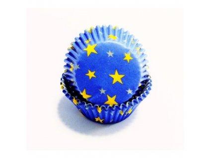 Košíčky 50 x 30 mm (60 ks) - Modré s hvězdičkami
