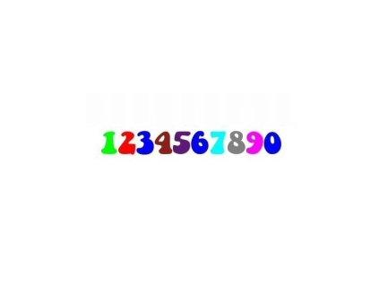 Číslice - buclatá