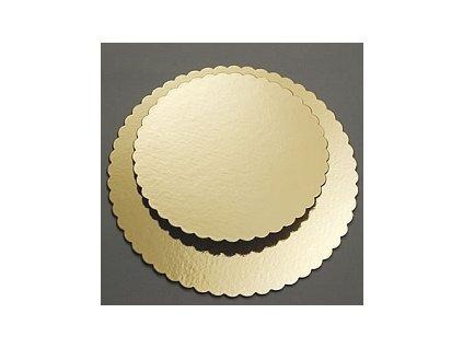 Zlatá podložka pod dort Ø  26 cm