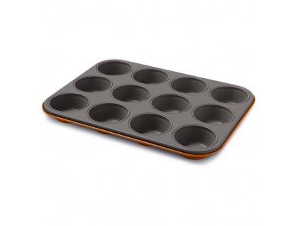 Plech na muffiny Guardini - 12 pozic oranžový