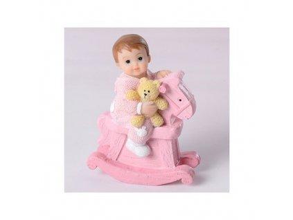 Dítě na koníkovi - holka