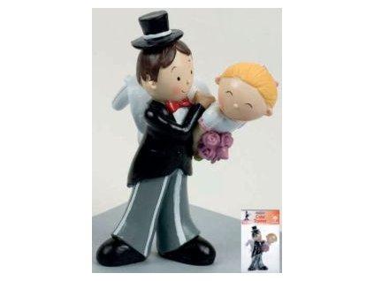 Svatební pár 15 cm