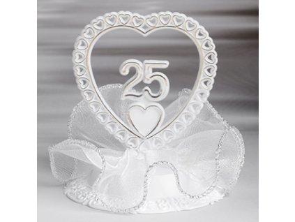 Stříbrná svatba - číslo v srdci