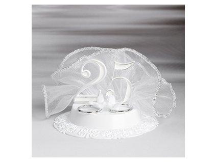Stříbrná svatba - číslo + prstýnky