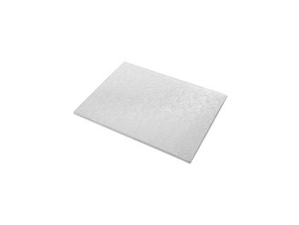 Dortové podložky stříbrné (5 ks) - Obdelník 35 x 45 cm