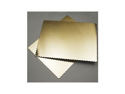 Zlatá podložka pod dort - Obdélník 25 x 35 cm