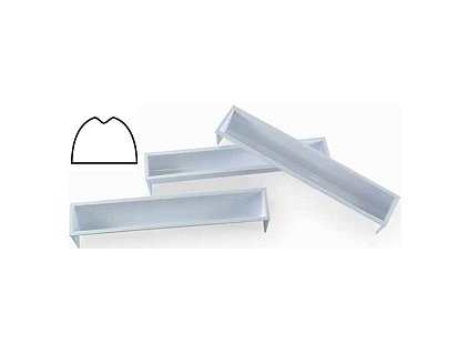 Forma plastová terina tunel s prohlubní - hřbet