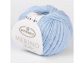 Merino Baby 525 nebesky modrá