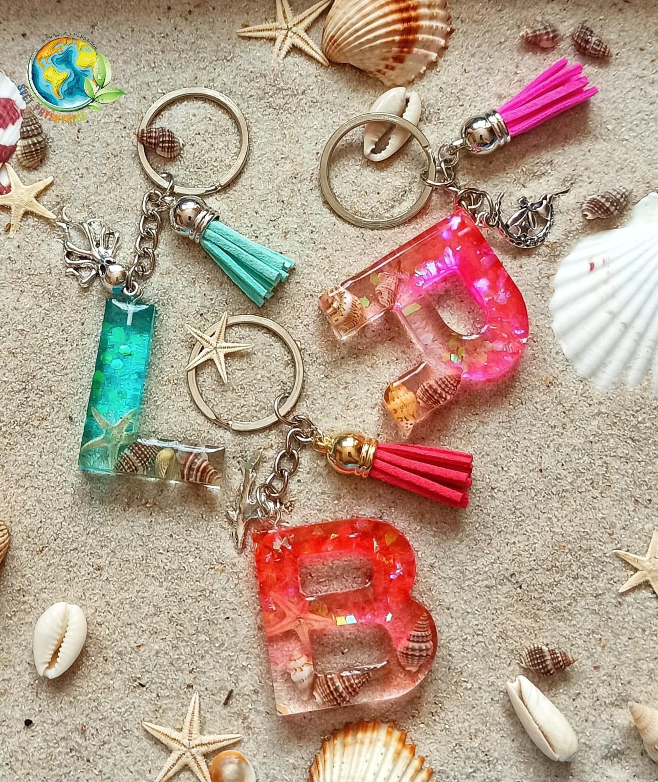 Přívěšek na klíče - barevné moře
