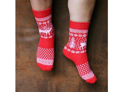 ponožky glen red 700