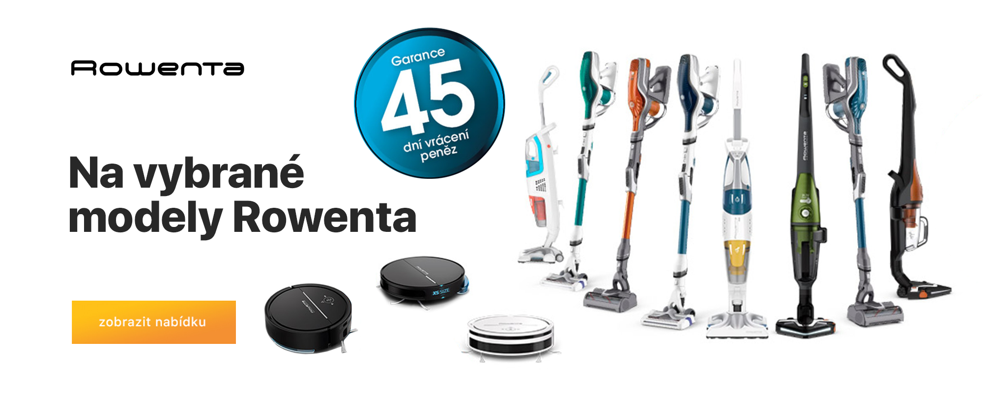 Garance 45 dní vrácení peněz pro vybrané modely značky Rowenta