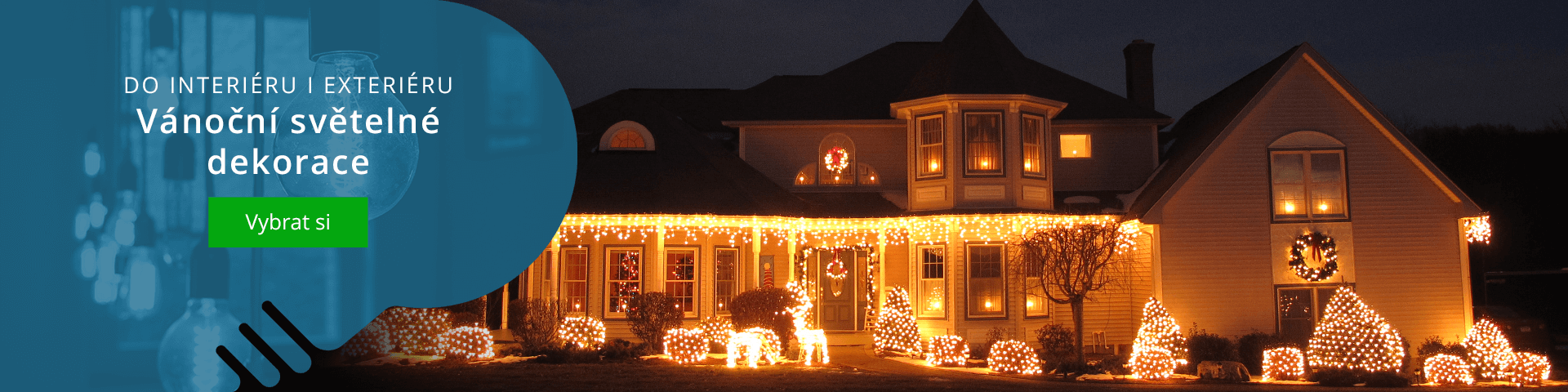 Široký výběr vánočního osvětlení