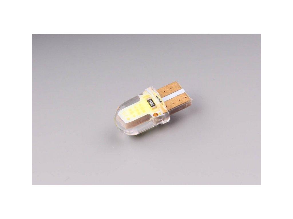 žárovka LED 12V 5W W2,1x9,5d COB chip silikonová baňka
