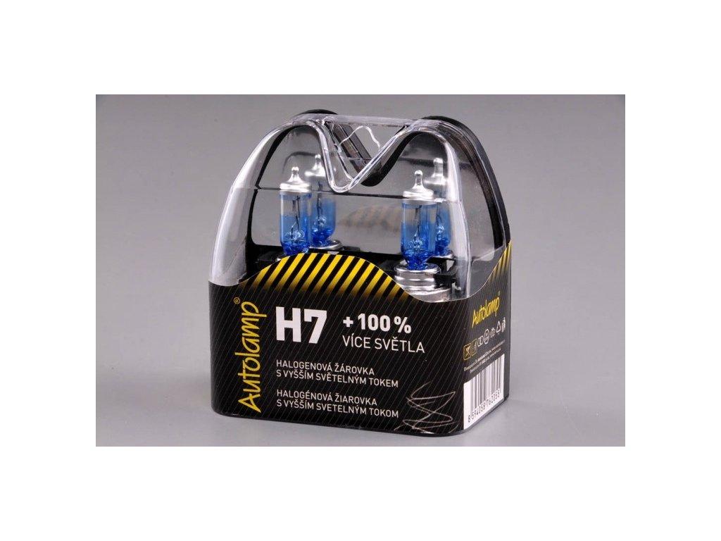 krabička AUTOLAMP H7 12V 55W PX26d +100% E-homologace
