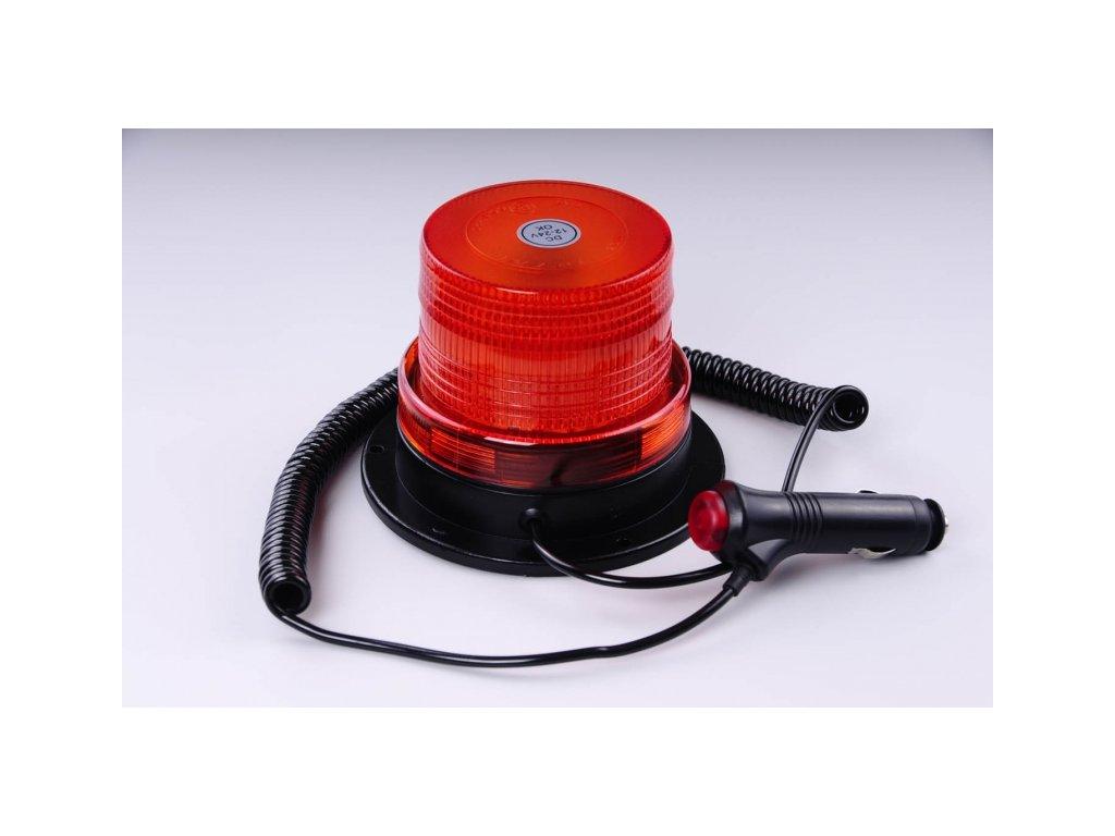 maják LED magnetický 12V-24V oranžový 40 SMD5730