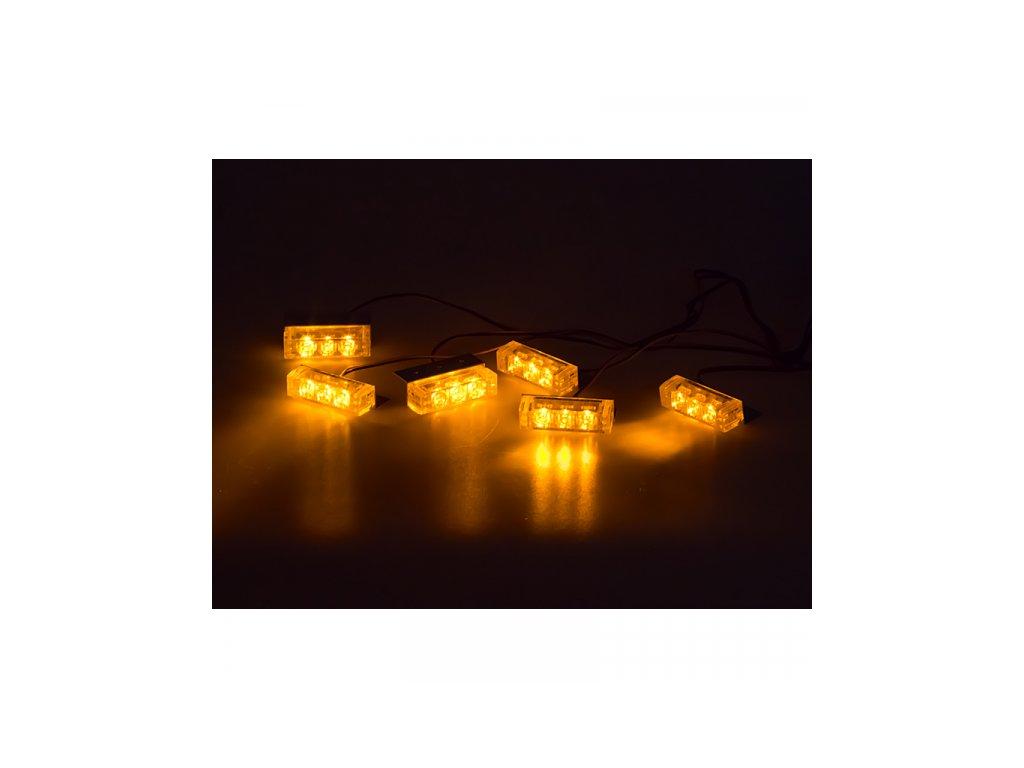 PREDATOR LED do mřížky 12V oranžový