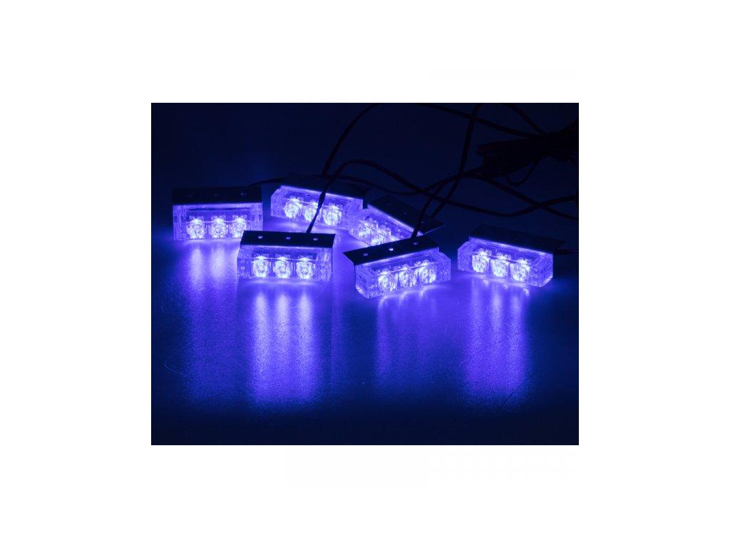 PREDATOR LED do mřížky 12V modrý
