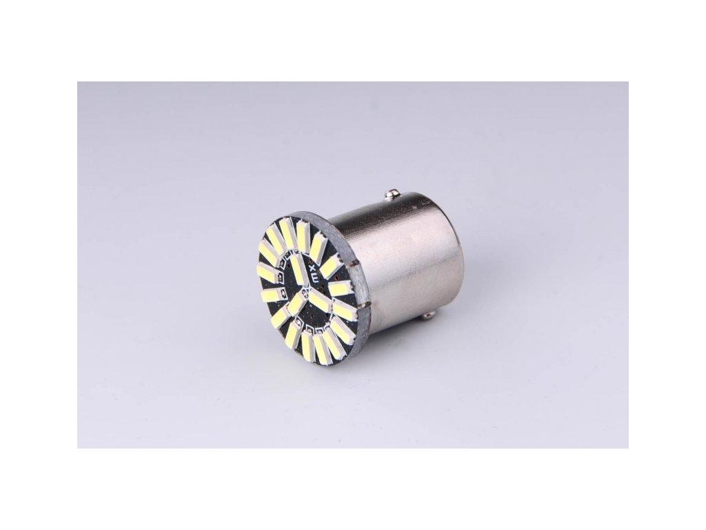 žárovka LED 12V 21W BA15s čirá 19xLED 4014