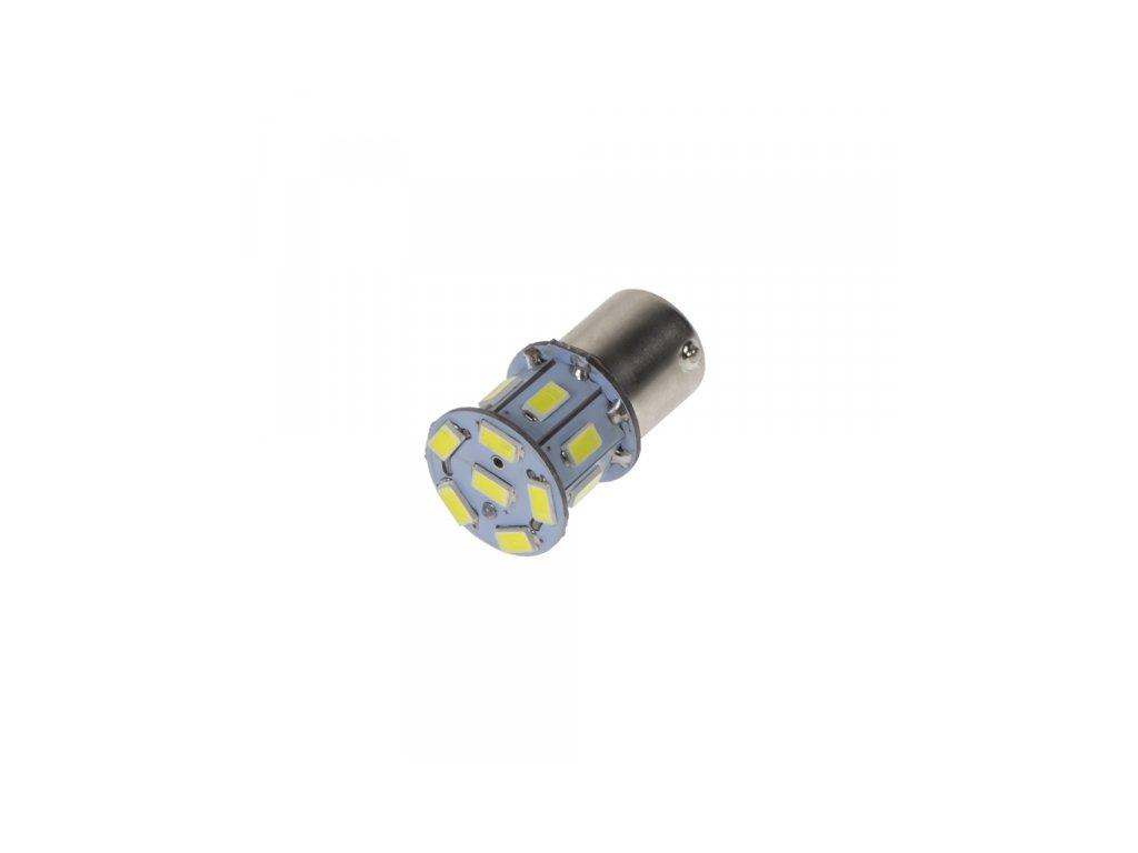 LED žárovka 24V s paticí BAU15S bílá 16LED/3SMD