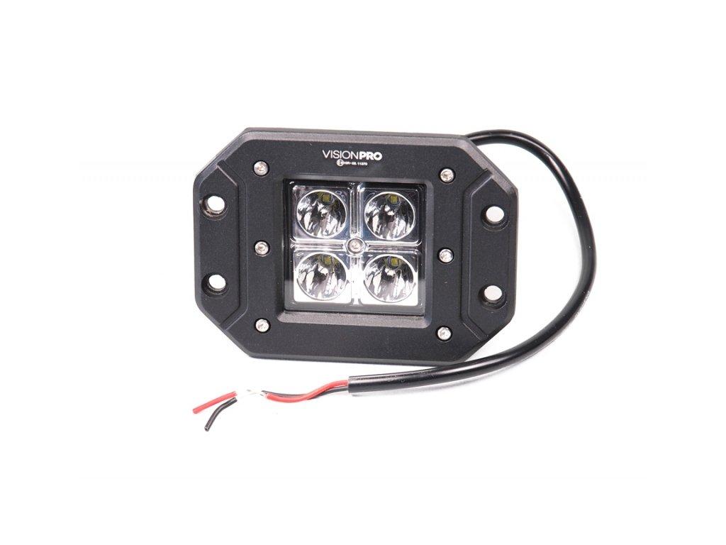 pracovní světlo 4x LED, 10-30V, pevné uchycení
