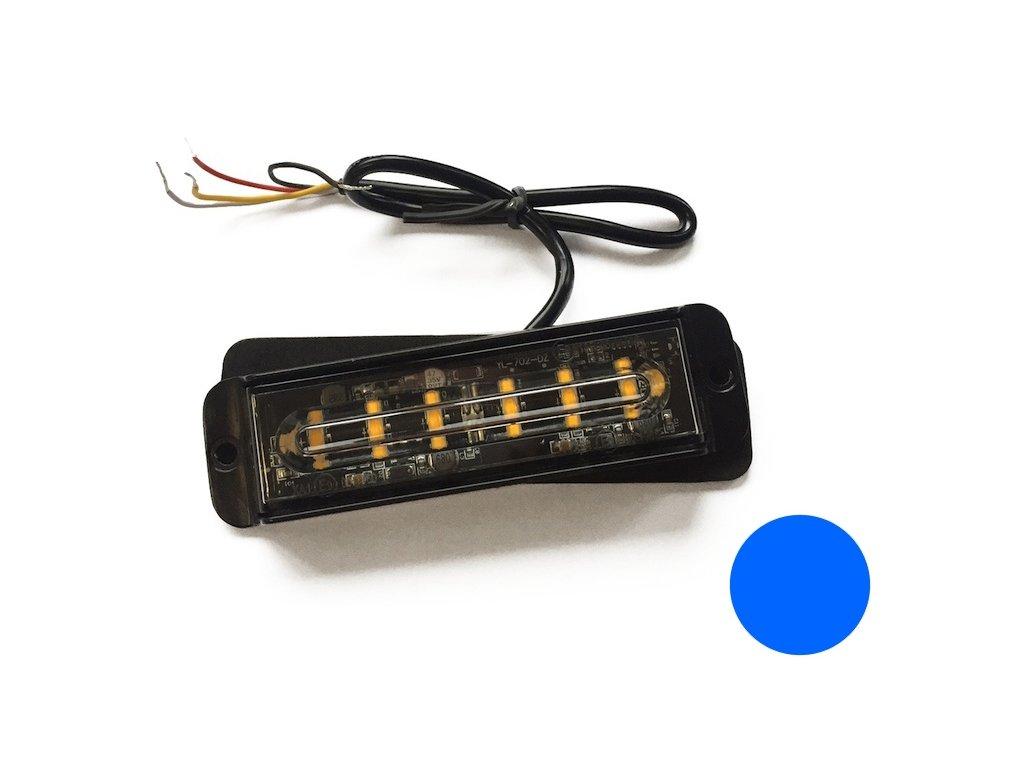 strobo maják - predátor 12/24V Elta, 6x LED, modrý