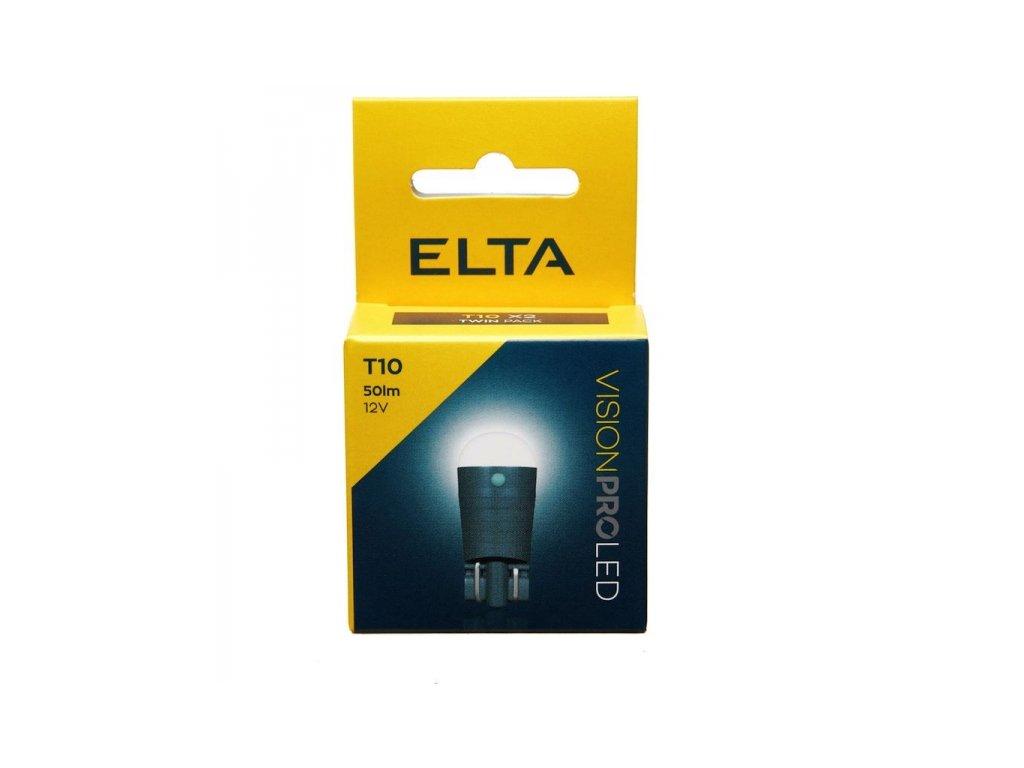 12V LED žárovka W5W W2,1x9,5d 50lm, Elta - sada (2 ks)