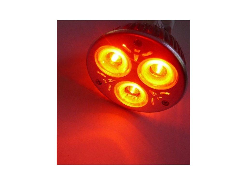Barevná LED žárovka GU10 - Červená