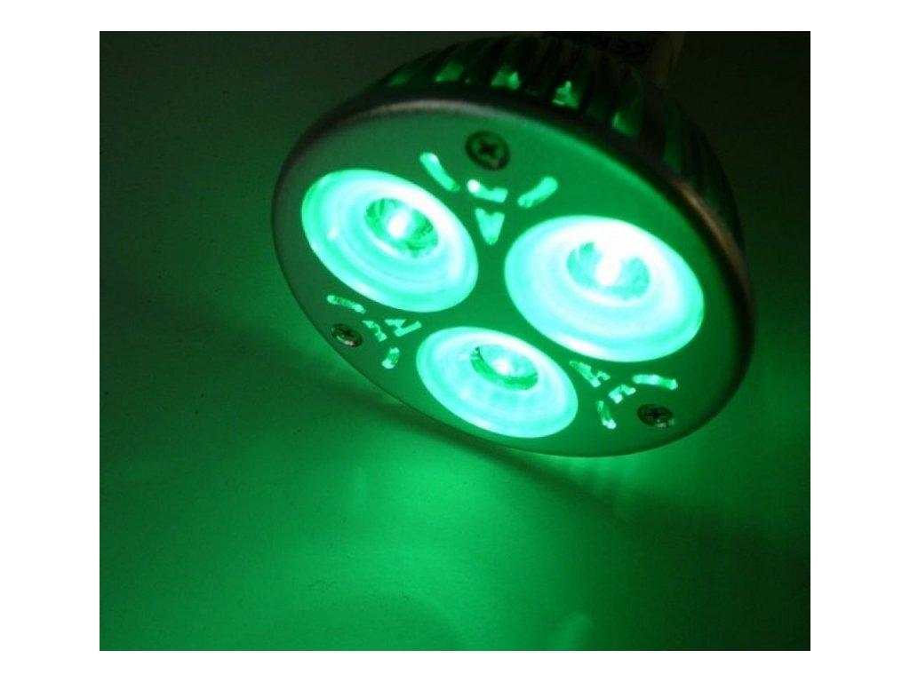 Barevná LED žárovka GU10 - Zelená