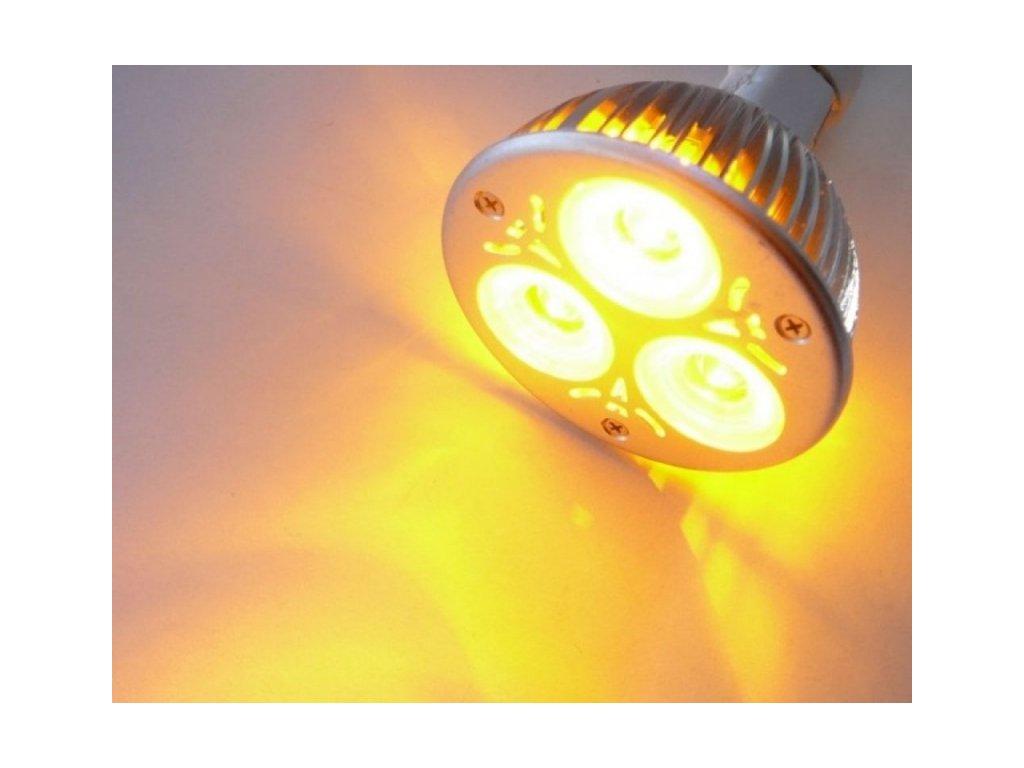 Barevná LED žárovka E27 - Žlutá