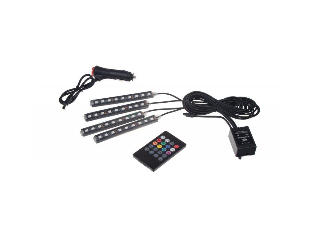 LED podsvětlení vnitřní/vnější RGB 12V, IR, 4 pásky