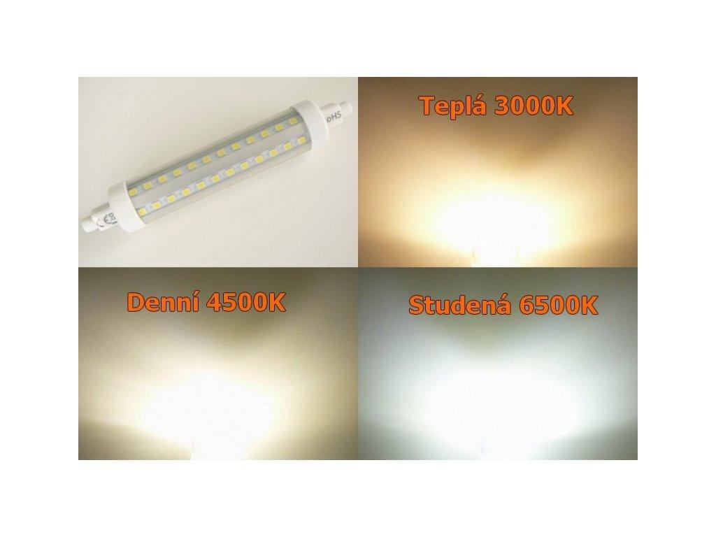 LED žárovka R7s E14W-360 - Studená bílá