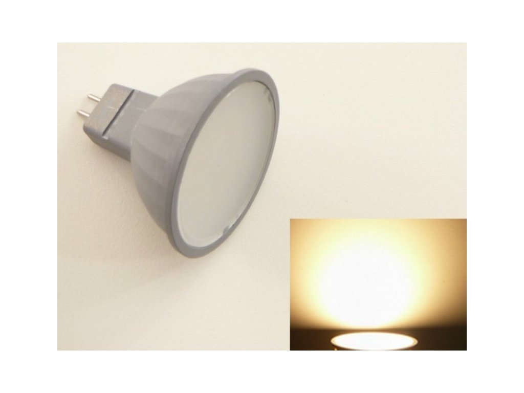 LED žárovka MR16 EL3W - Teplá bílá